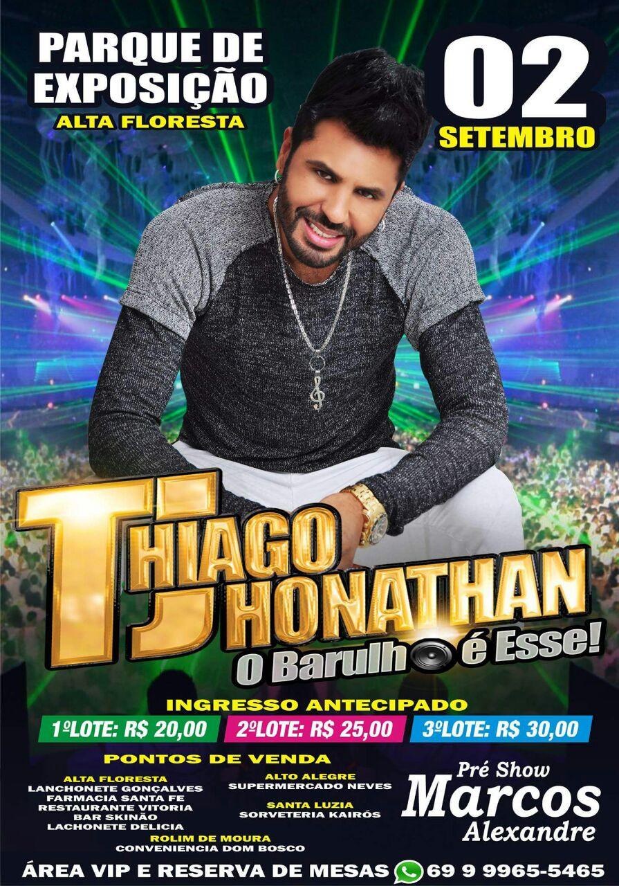Dia 02 de Setembro de 2017 acontece um mega show com Thiago Jhonathan...