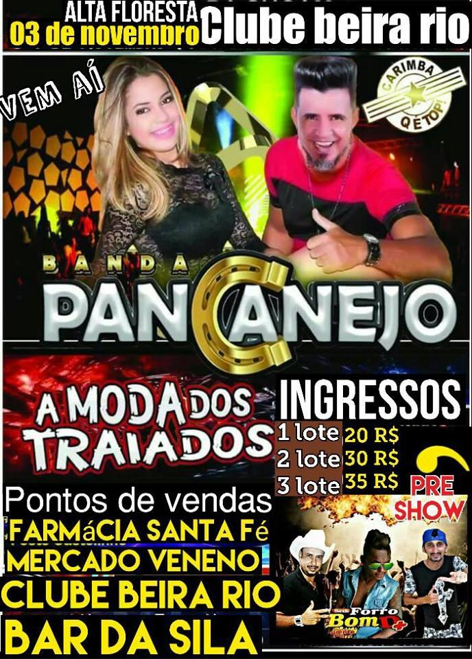 BANDA PANCANEJO DIA 03 DE NOVEMBRO NO CLUBE BEIRA RIO